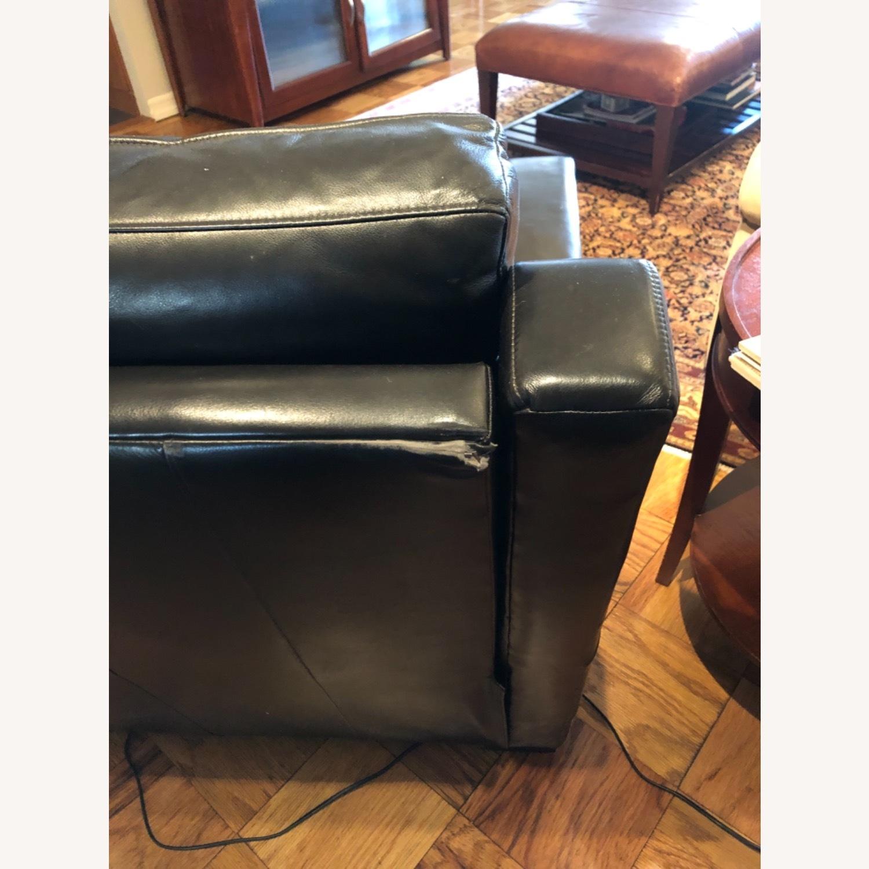 Century Furntiure Custom Black Leather Recliner - image-5