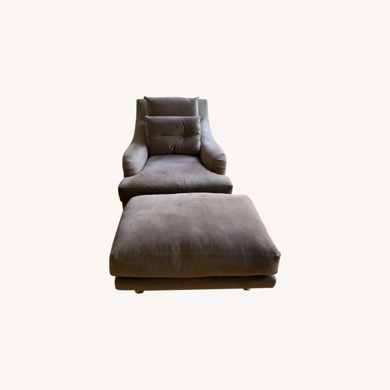 Ralph Pucci Chair and Ottoman - image-0