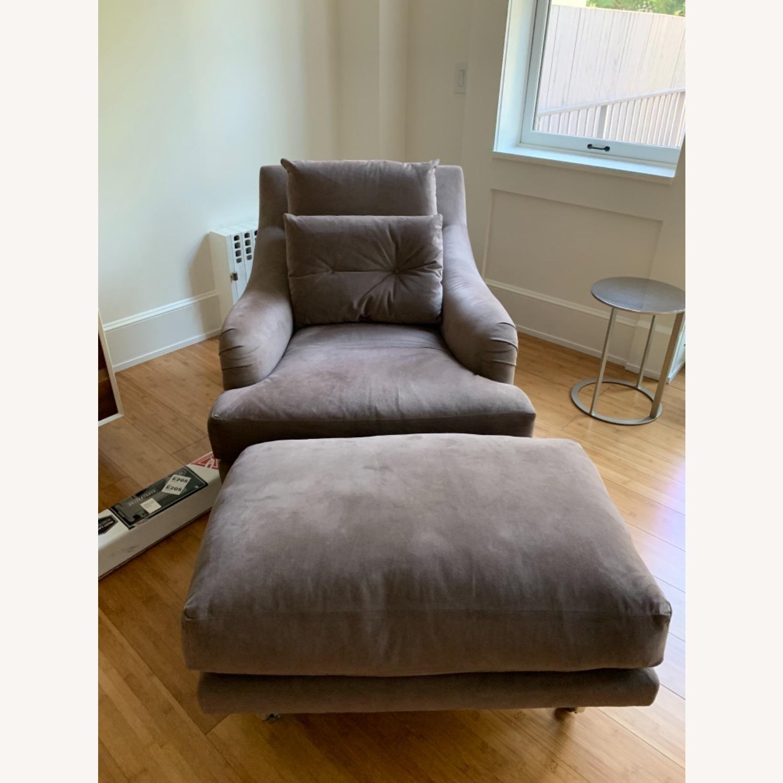 Ralph Pucci Chair and Ottoman - image-1