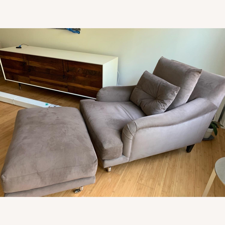 Ralph Pucci Chair and Ottoman - image-2
