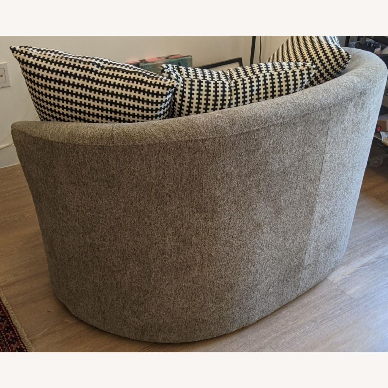 Thomasville Fabric Swivel Chair - image-2