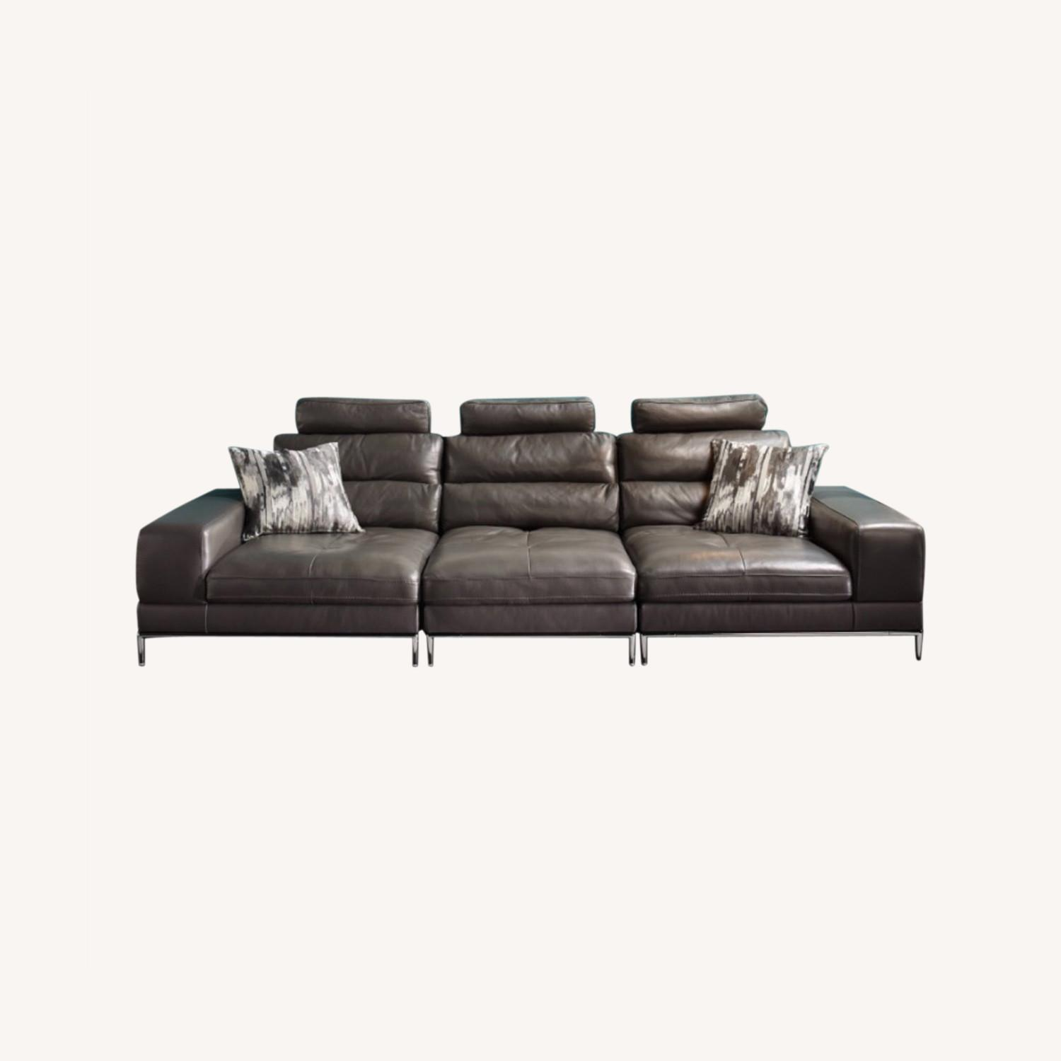 Z Gallerie Jude Leather Sofa - image-0