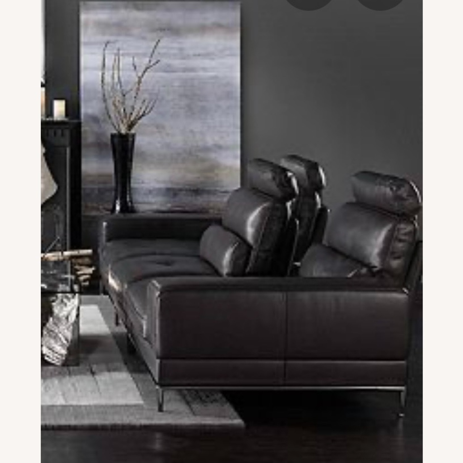 Z Gallerie Jude Leather Sofa - image-1