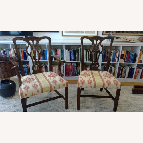 Used Chippendale-Style Solid Wood Chairs - 8 for sale on AptDeco