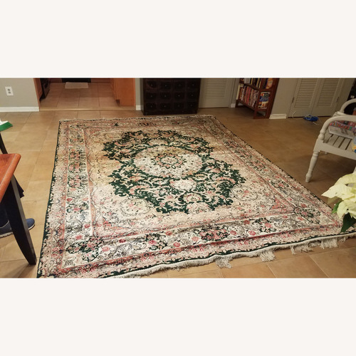 """Used Hand Knotted Persian Silk Rug 7'10"""" X 11'9"""" for sale on AptDeco"""