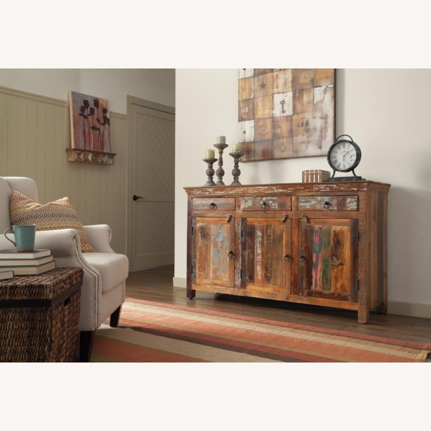 Accent Cabinet In Reclaimed Wood Finish - image-2