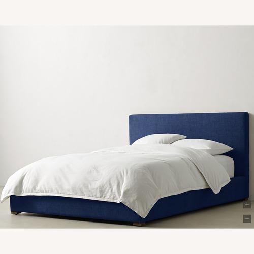 Used Restoration Hardware Beck Upholstered Platform Bed for sale on AptDeco