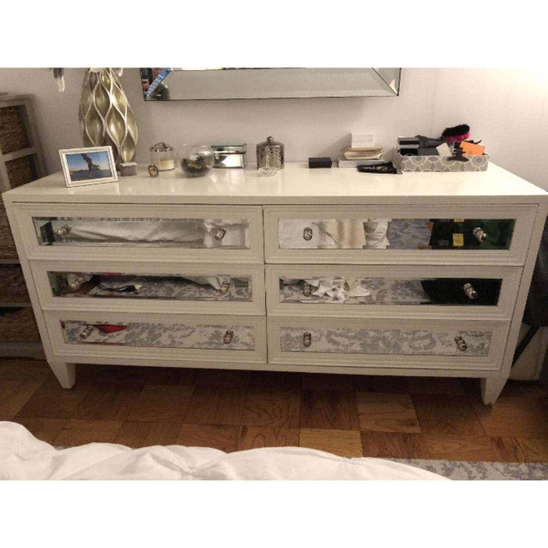 Z Gallerie Mirrored 6 Drawer Dresser - image-2