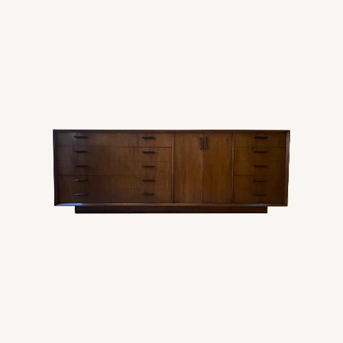 Used Lane Furniture 10 Drawer Walnut MCM Credenza for sale on AptDeco