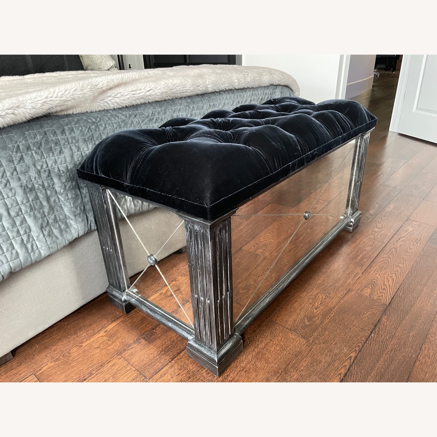 Horchow Antique Mirrored Trunk/Chest - image-2
