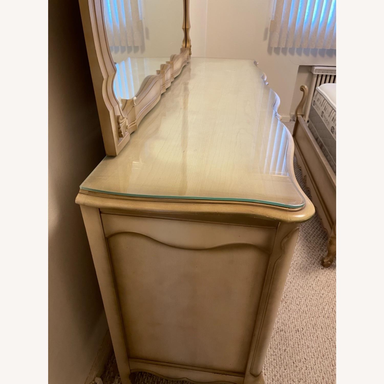Bassett 1970s French Style Dresser w/Mirror - image-5