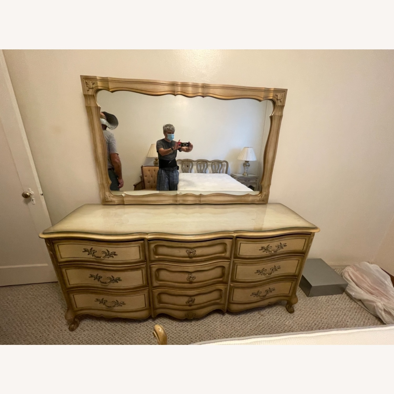 Bassett 1970s French Style Dresser w/Mirror - image-7