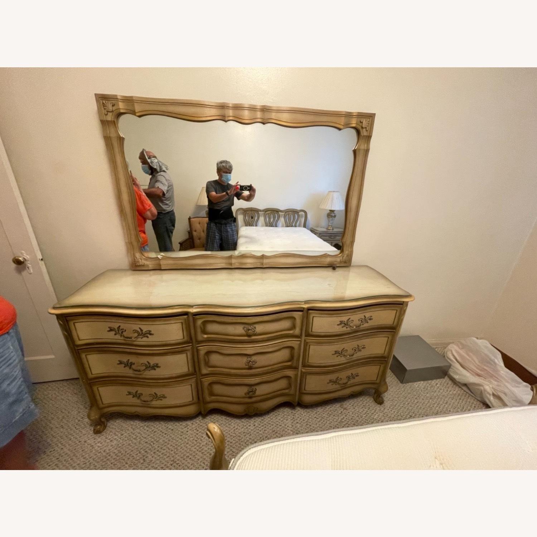 Bassett 1970s French Style Dresser w/Mirror - image-0
