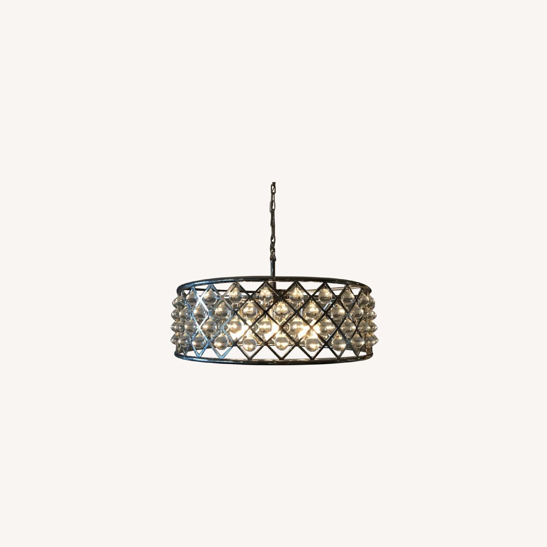 """Crystal Grid Hoop 8 Light 32"""" Crystal Chandelier - image-0"""