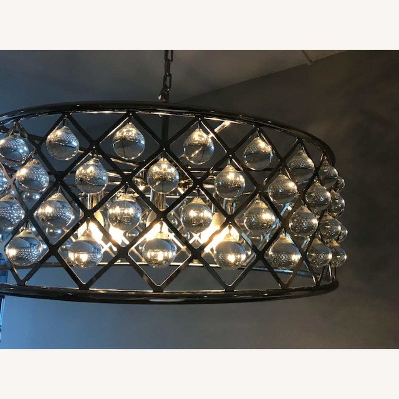 """Crystal Grid Hoop 8 Light 32"""" Crystal Chandelier - image-3"""