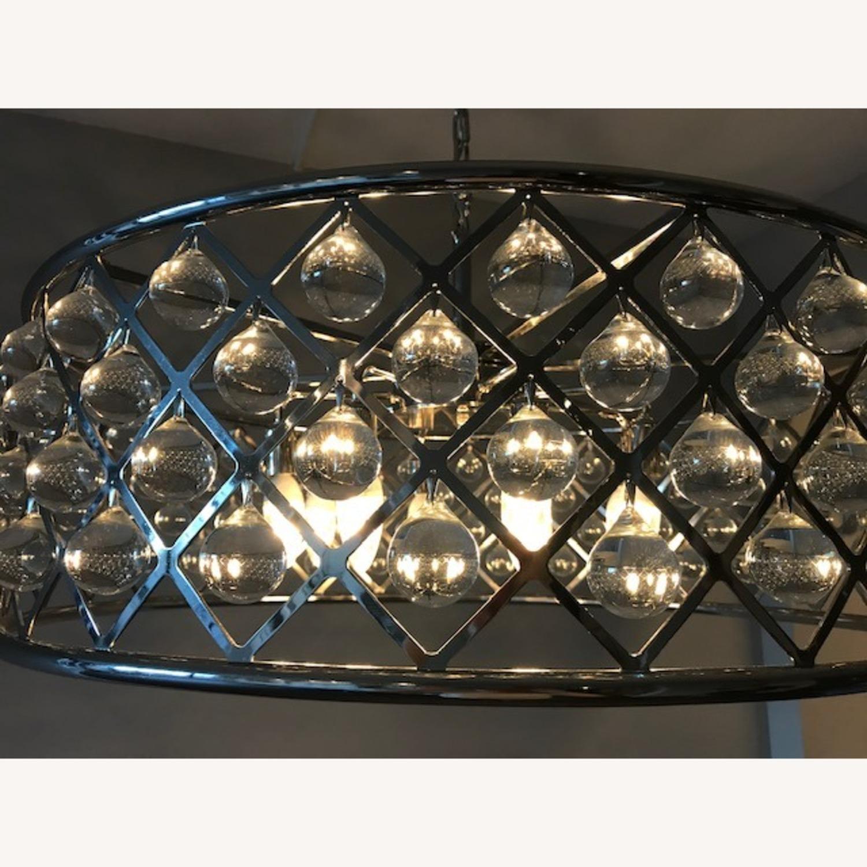 """Crystal Grid Hoop 8 Light 32"""" Crystal Chandelier - image-2"""