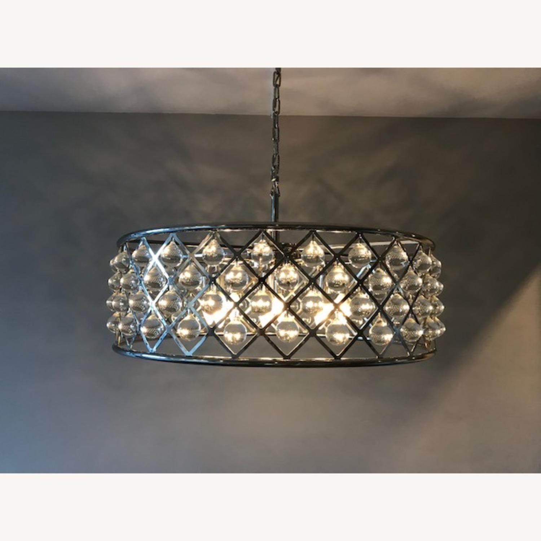 """Crystal Grid Hoop 8 Light 32"""" Crystal Chandelier - image-1"""