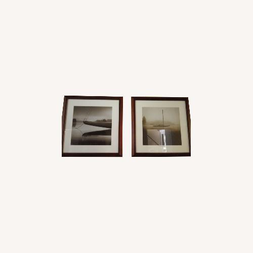 Used Vintage Wood Frame Nautical Abstract for sale on AptDeco