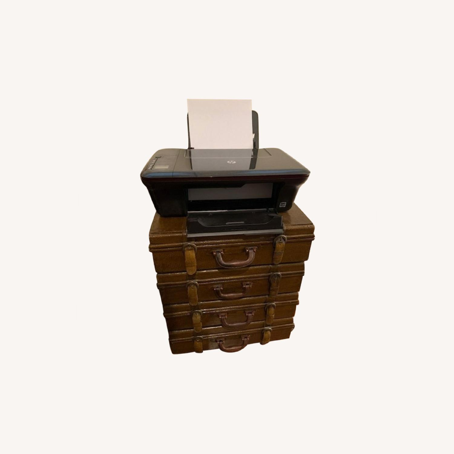 Small Faux Leather 4 - Drawer Accent Chest - image-0