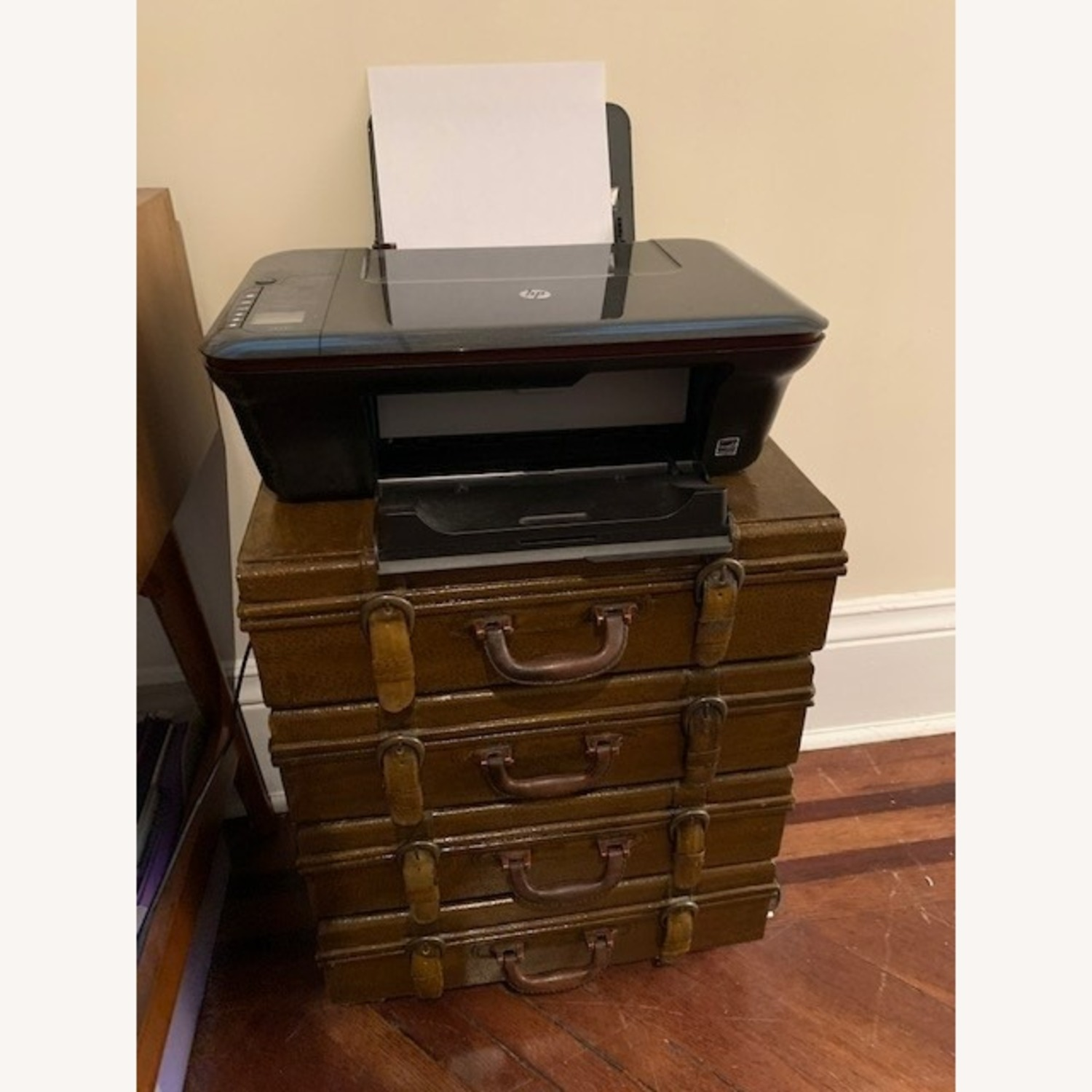 Small Faux Leather 4 - Drawer Accent Chest - image-1