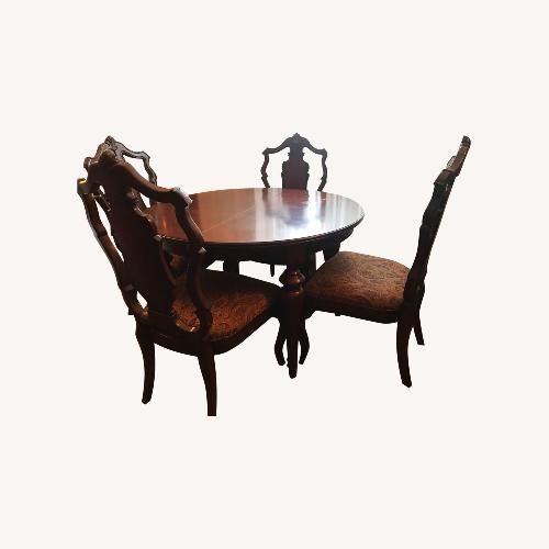 Used Macy's Solid Wood 6 Piece Dining Set for sale on AptDeco