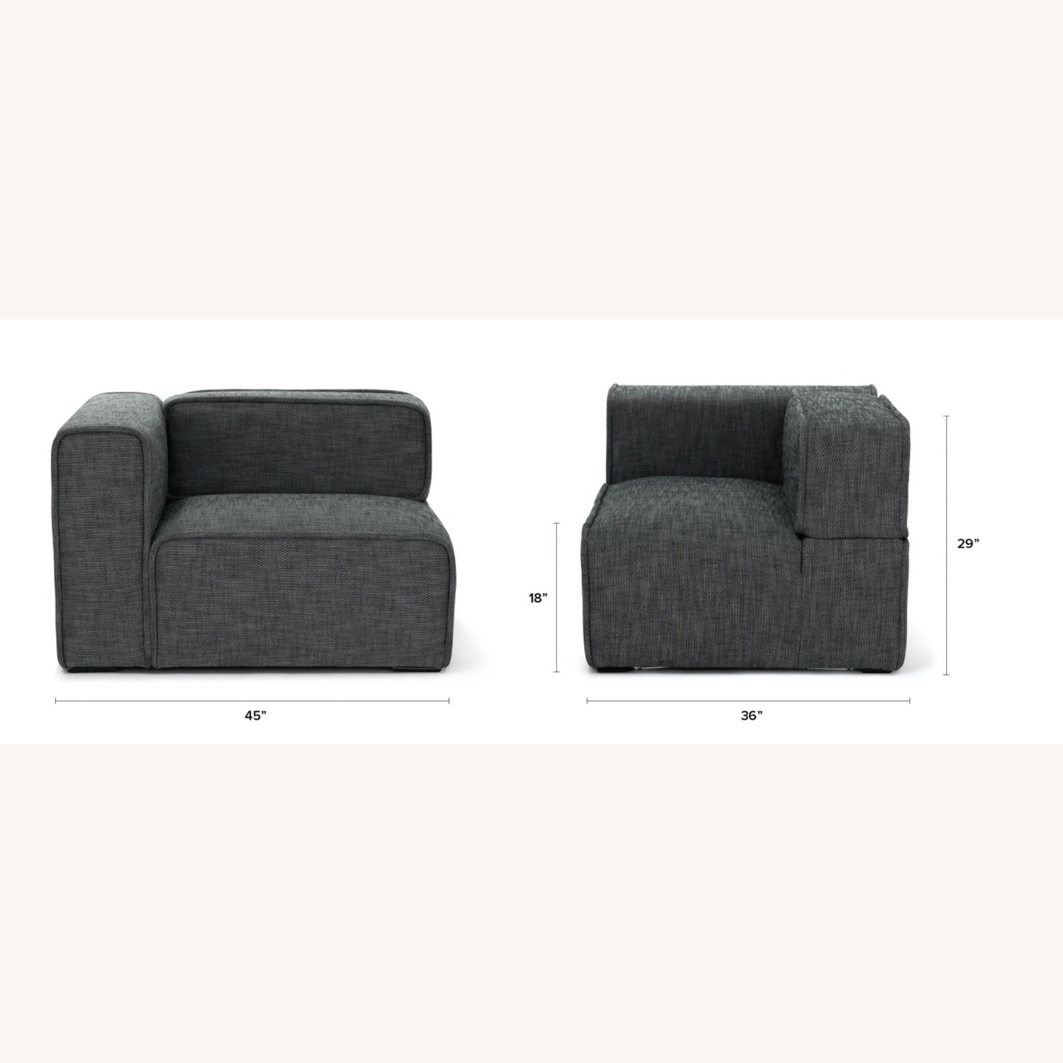 Article Quadra Carbon Gray Couch - image-2