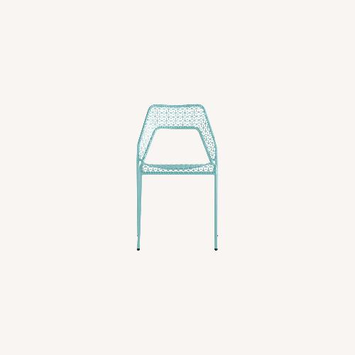 Used Blu Dot 4 Hot Mesh Chairs (Aqua) for sale on AptDeco