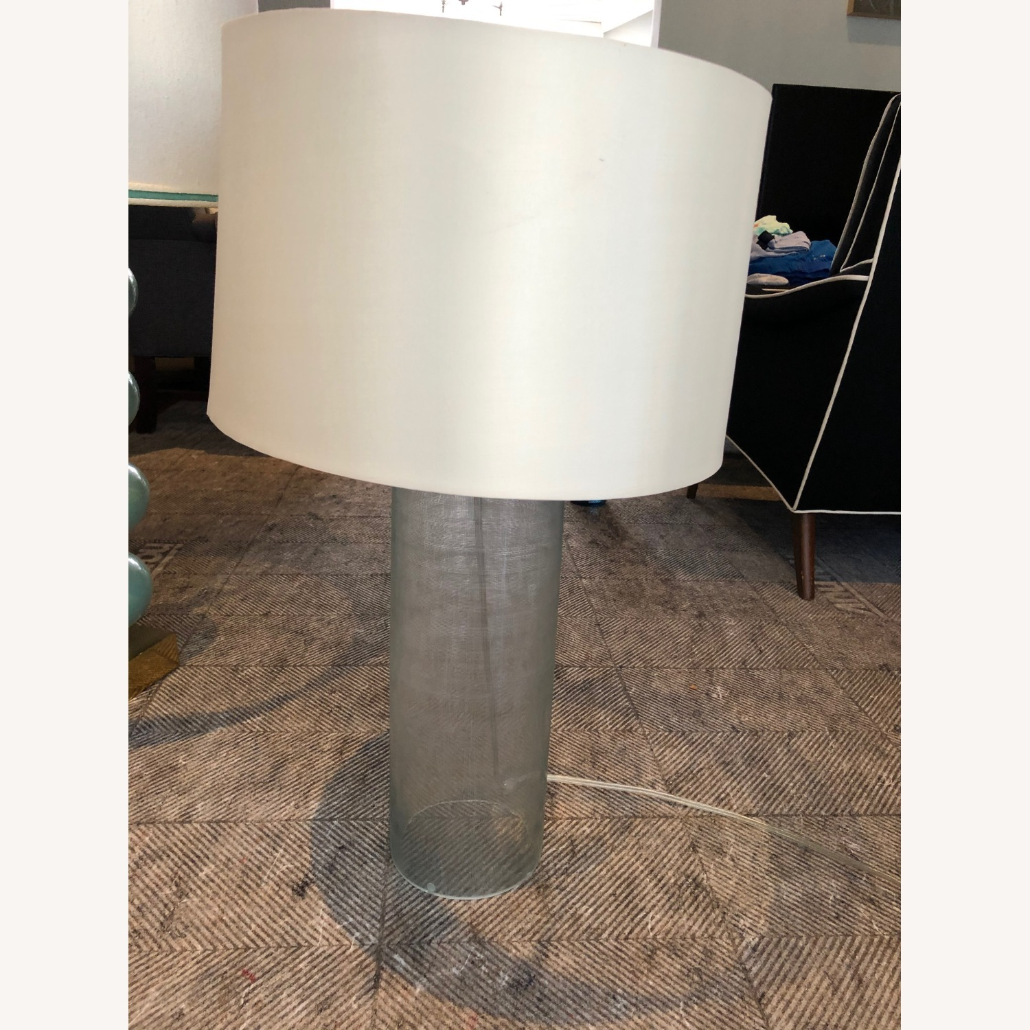 Glass Linen Etched Table Lamp - image-2