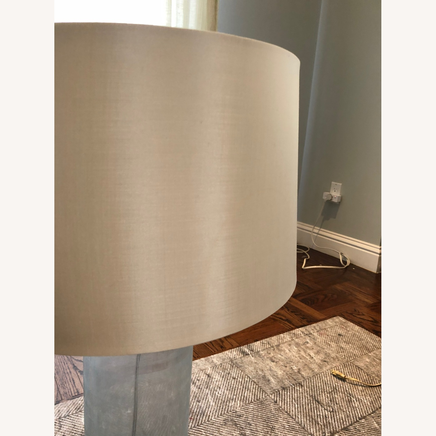 Glass Linen Etched Table Lamp - image-4