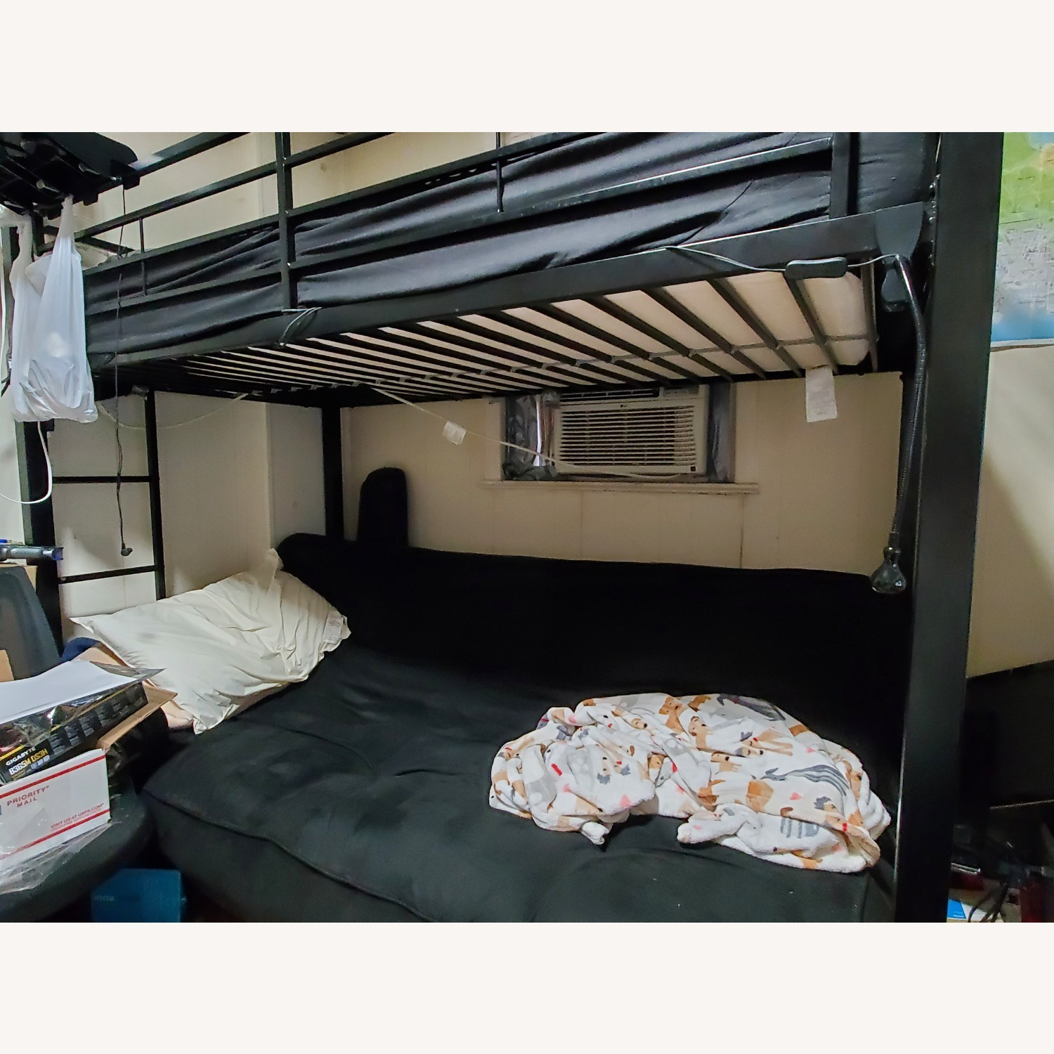 Wayfair Exmore Twin Over Full Metal (with Futon) Bunk Bed - image-3