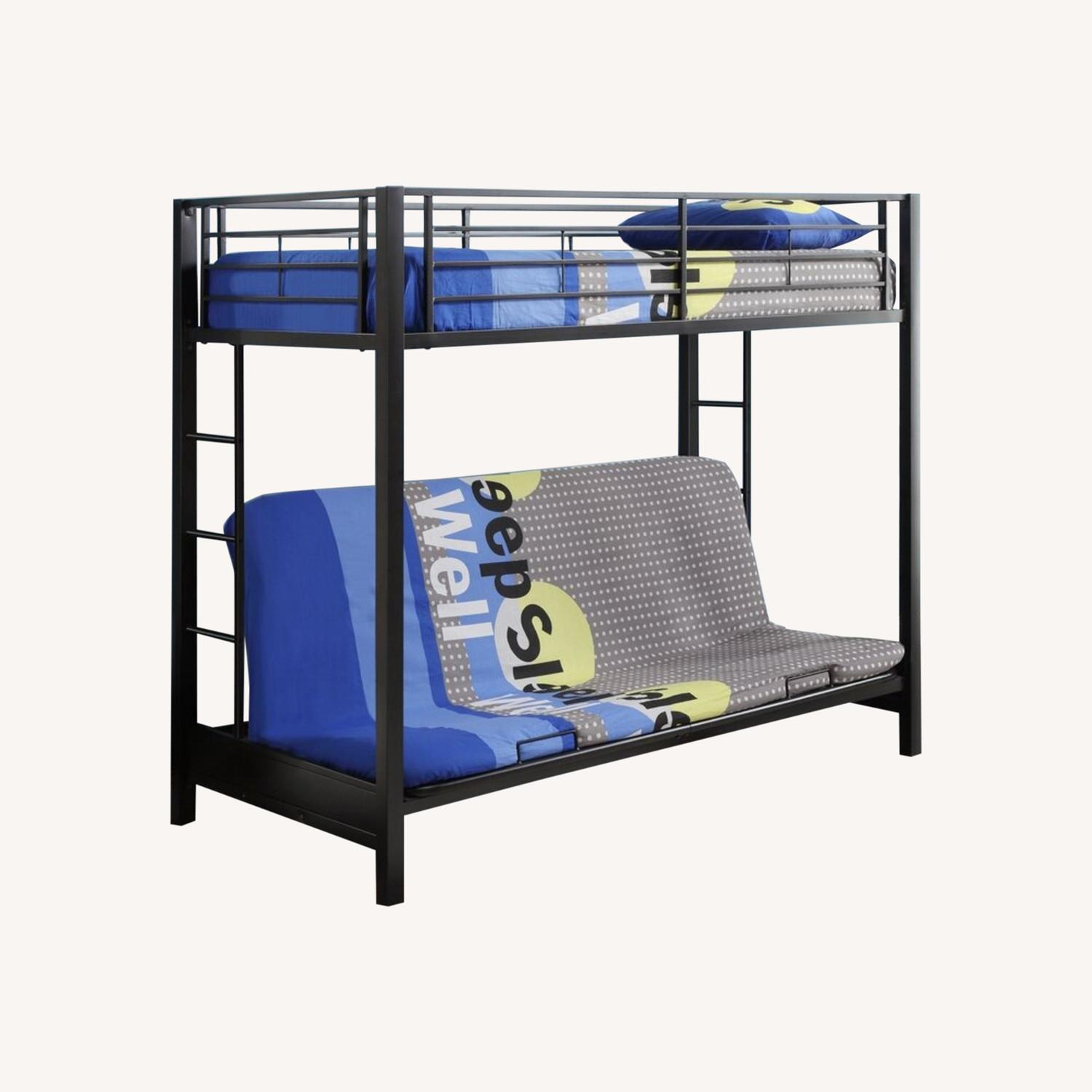 Wayfair Exmore Twin Over Full Metal (with Futon) Bunk Bed - image-0