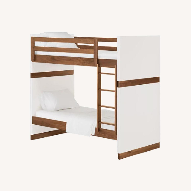 Room & Board Loft Bed with Desk and Side Shelves - image-0
