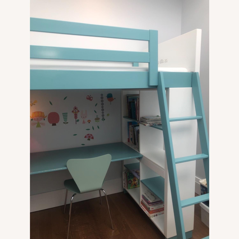 Room & Board Loft Bed with Desk and Side Shelves - image-10