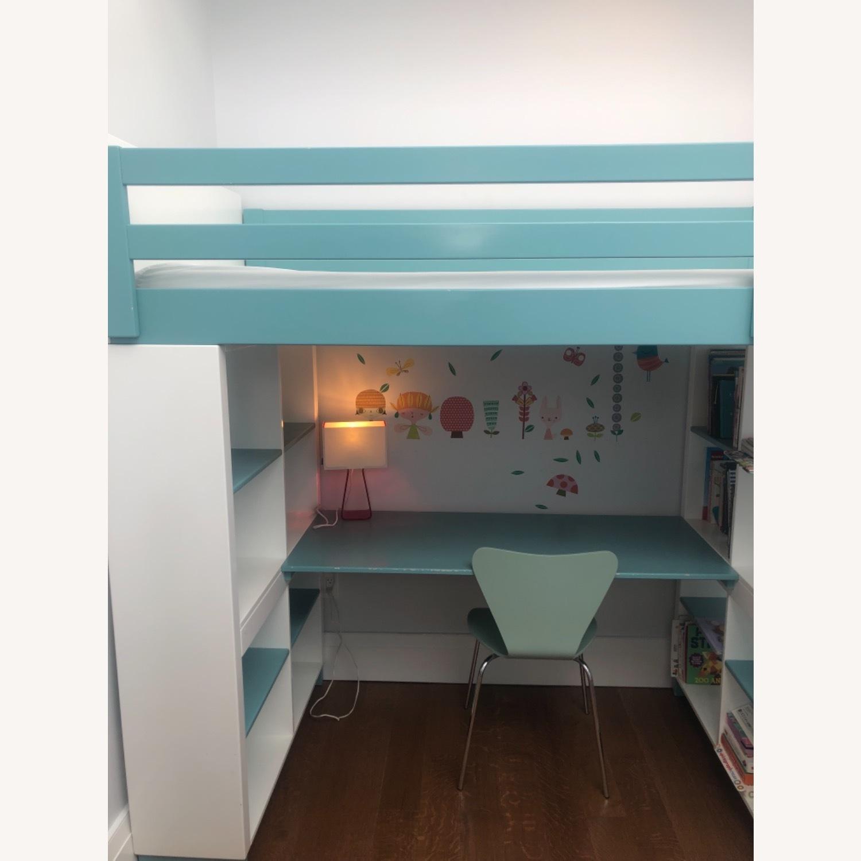 Room & Board Loft Bed with Desk and Side Shelves - image-12