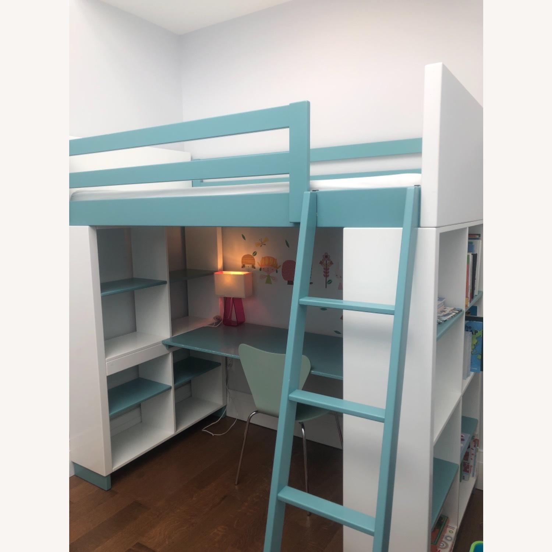 Room & Board Loft Bed with Desk and Side Shelves - image-9
