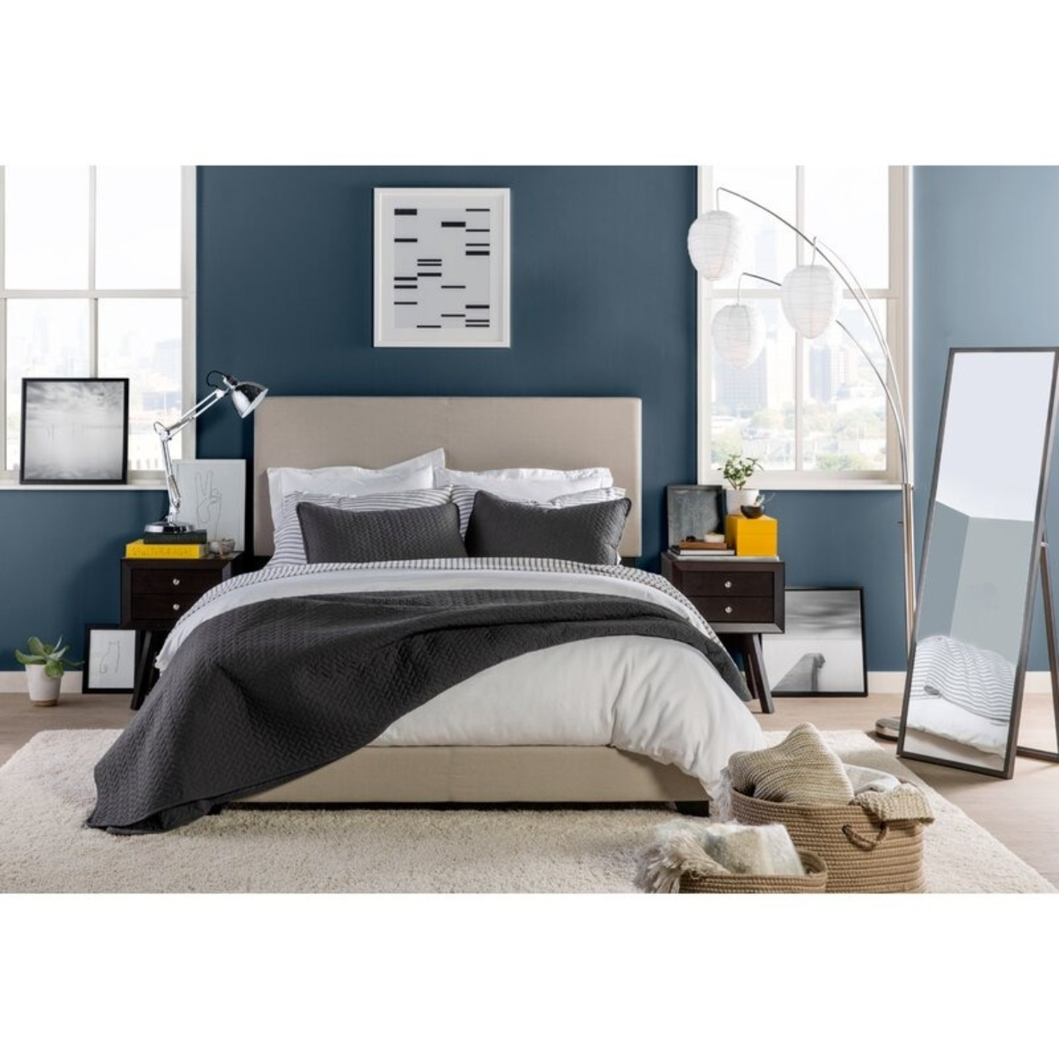 Zipcode Design Upholstered Low Profile Full Bed Frame - image-1