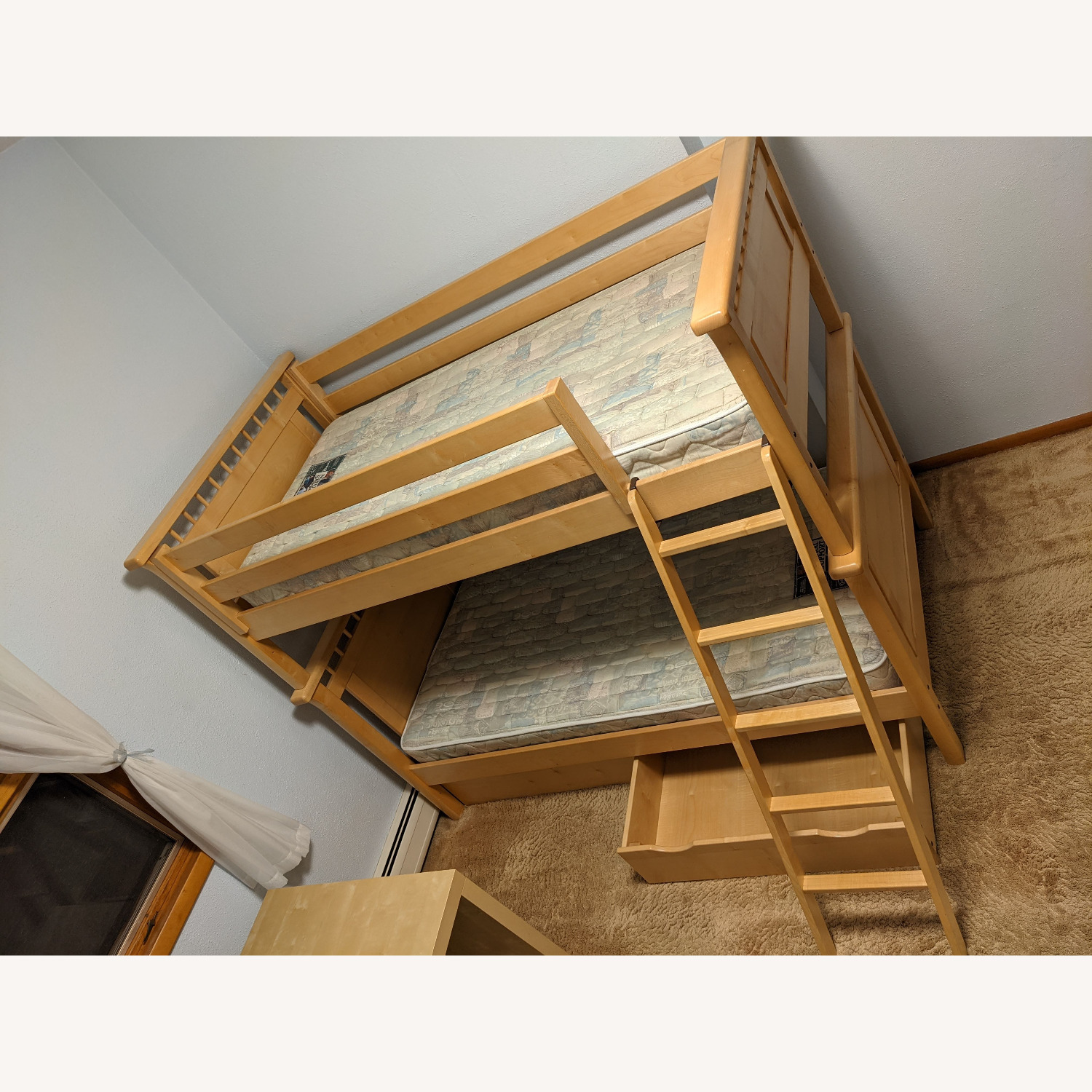 Solid Wood Bunk Beds w/ Under Bed Storage Drawers - image-4