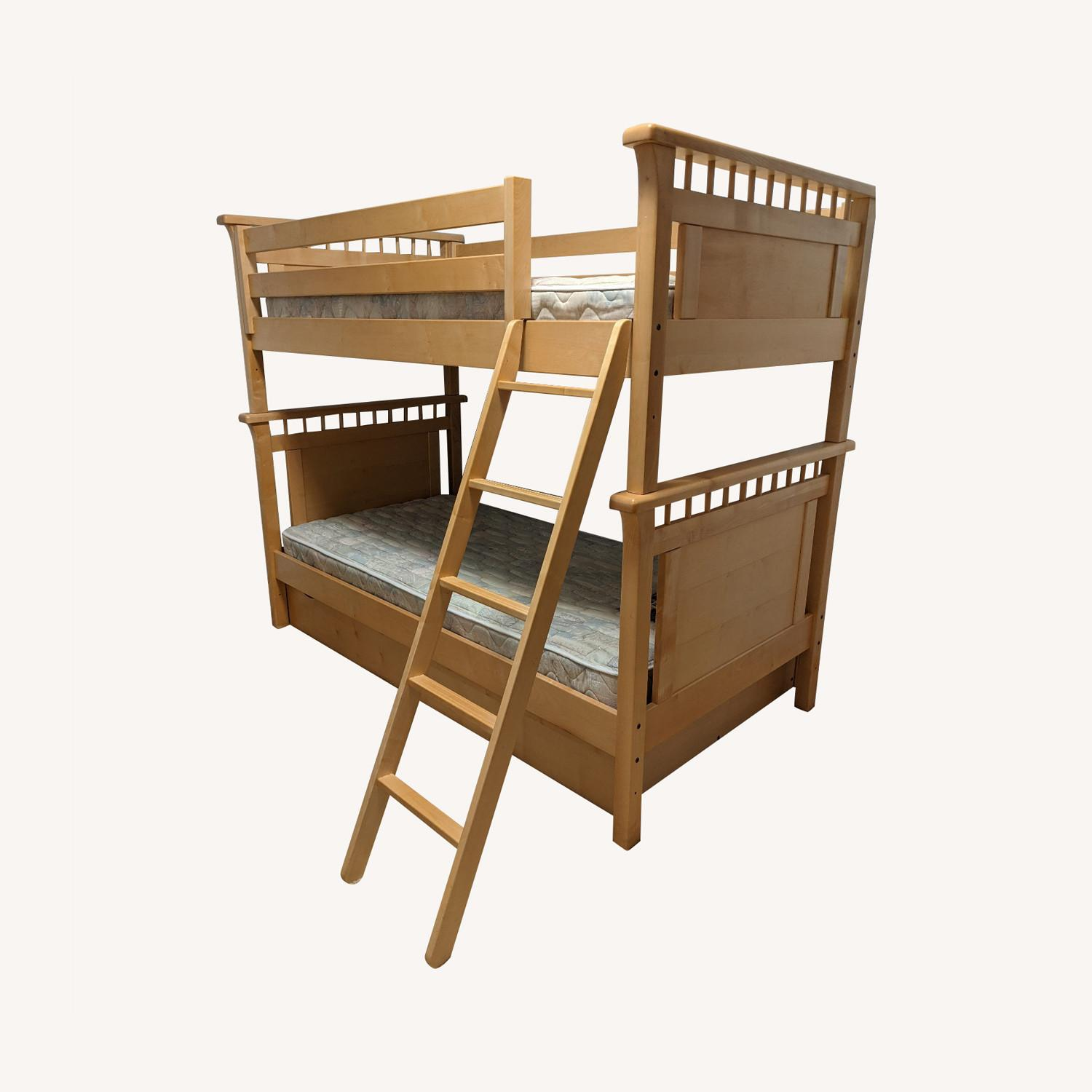 Solid Wood Bunk Beds w/ Under Bed Storage Drawers - image-0