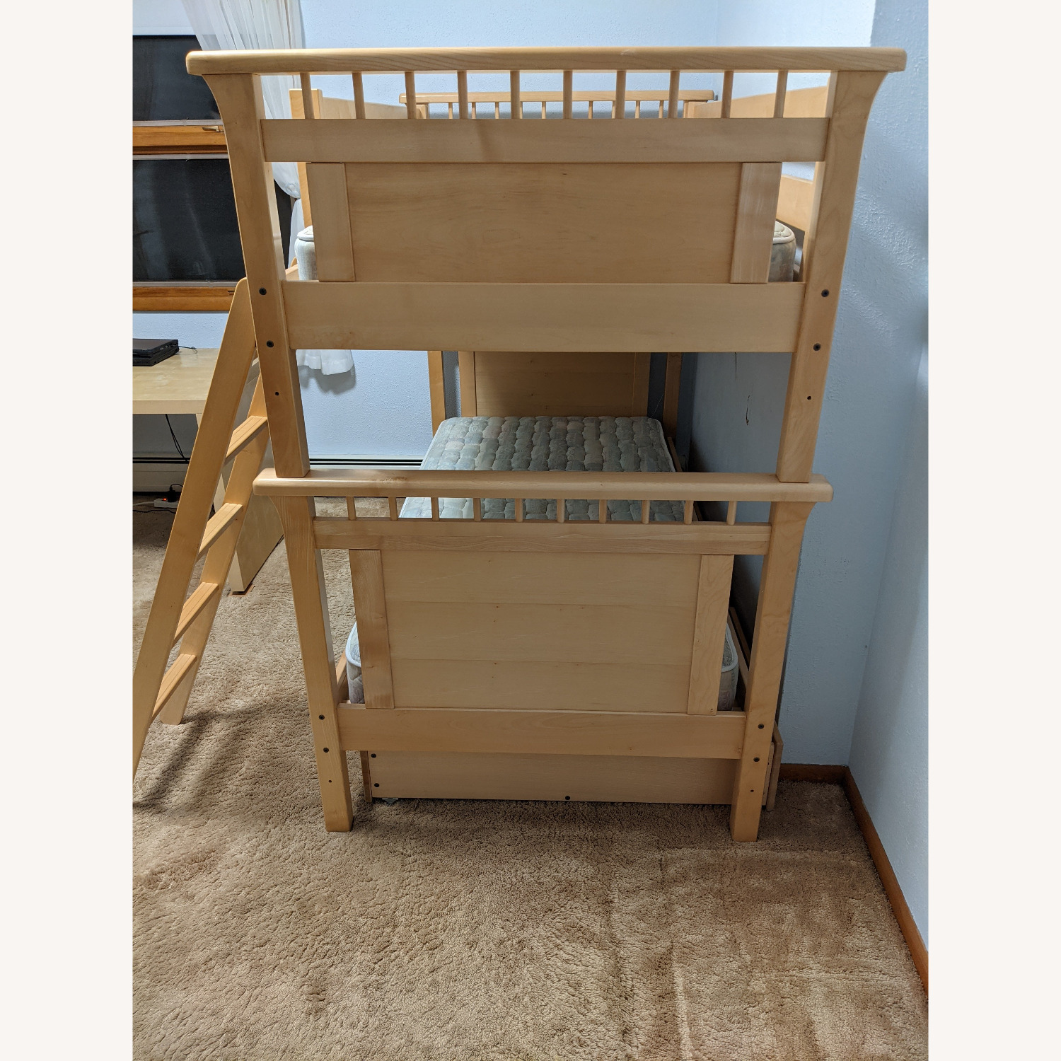 Solid Wood Bunk Beds w/ Under Bed Storage Drawers - image-3