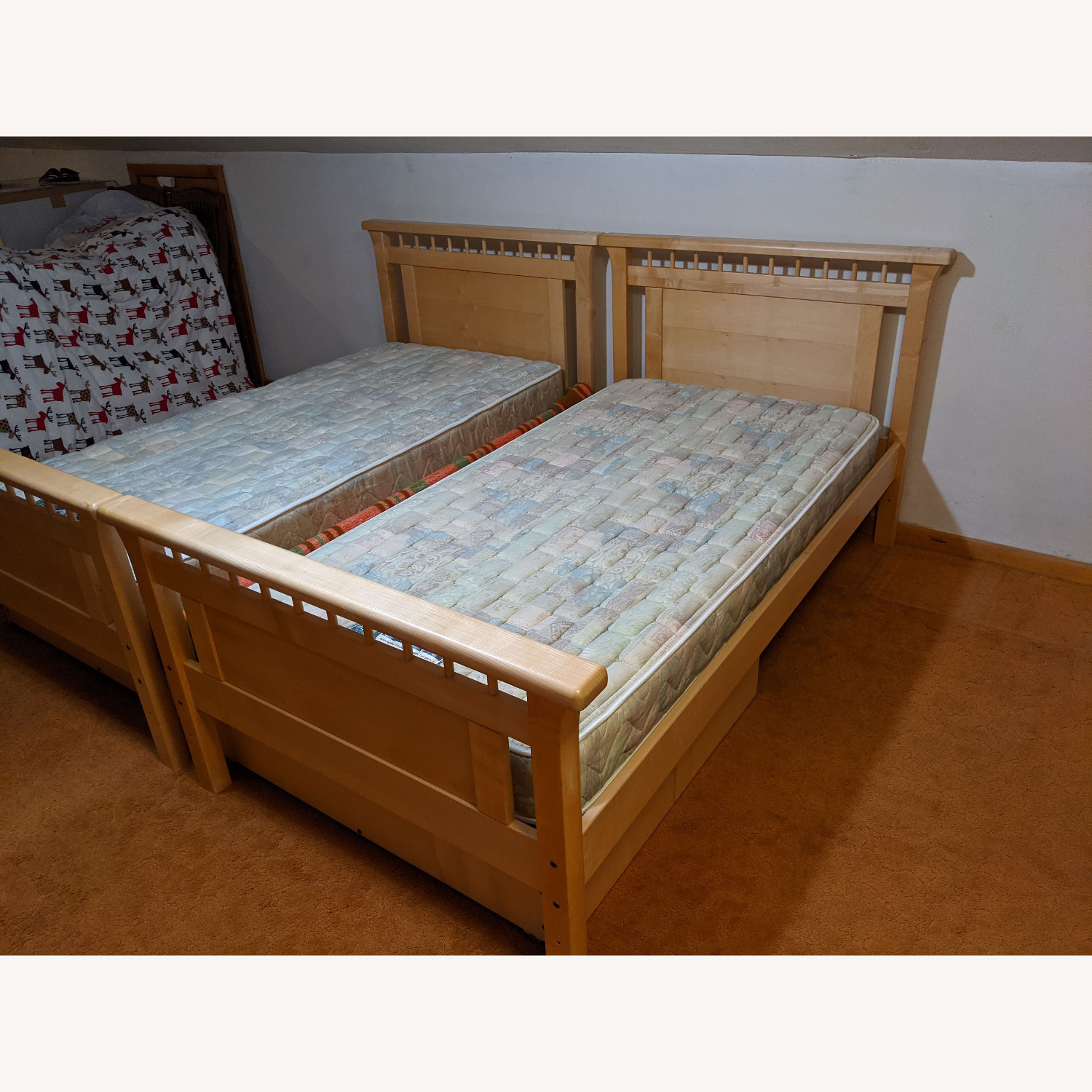 Solid Wood Bunk Beds w/ Under Bed Storage Drawers - image-6