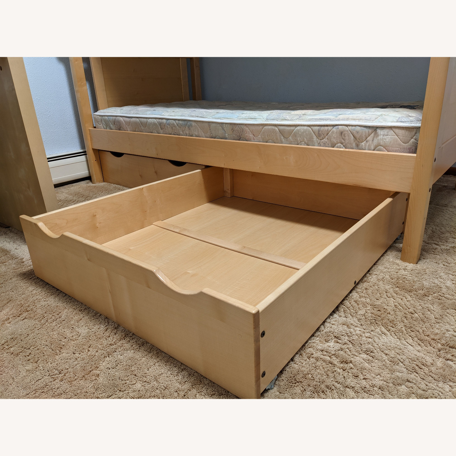 Solid Wood Bunk Beds w/ Under Bed Storage Drawers - image-2