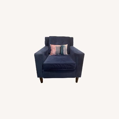 Used Skyline Furniture Navy Blue Armchair for sale on AptDeco