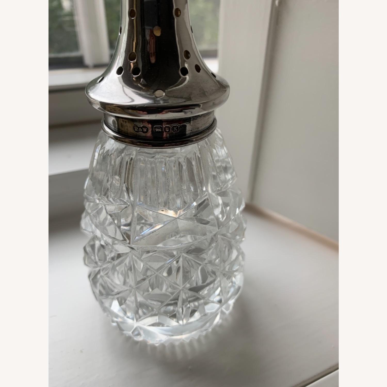 Antique Sterling Silver Crystal Sugar Shaker - image-4