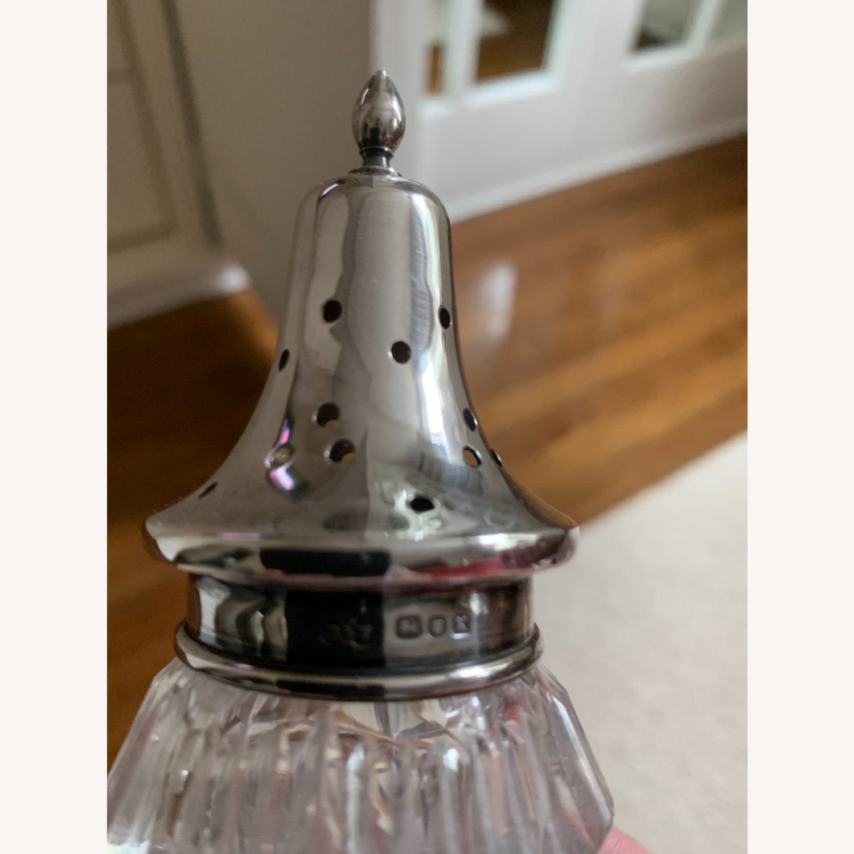 Antique Sterling Silver Crystal Sugar Shaker - image-3