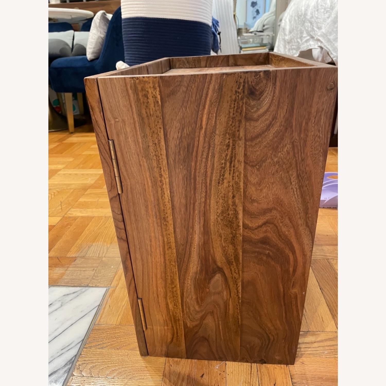 CB2 Walnut Bar Cabinet - image-2