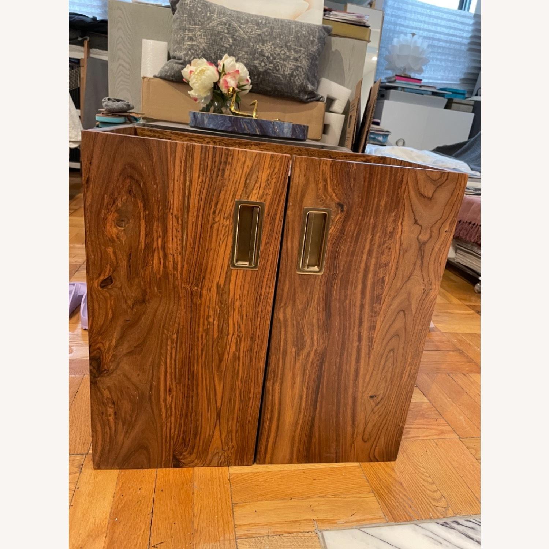CB2 Walnut Bar Cabinet - image-0