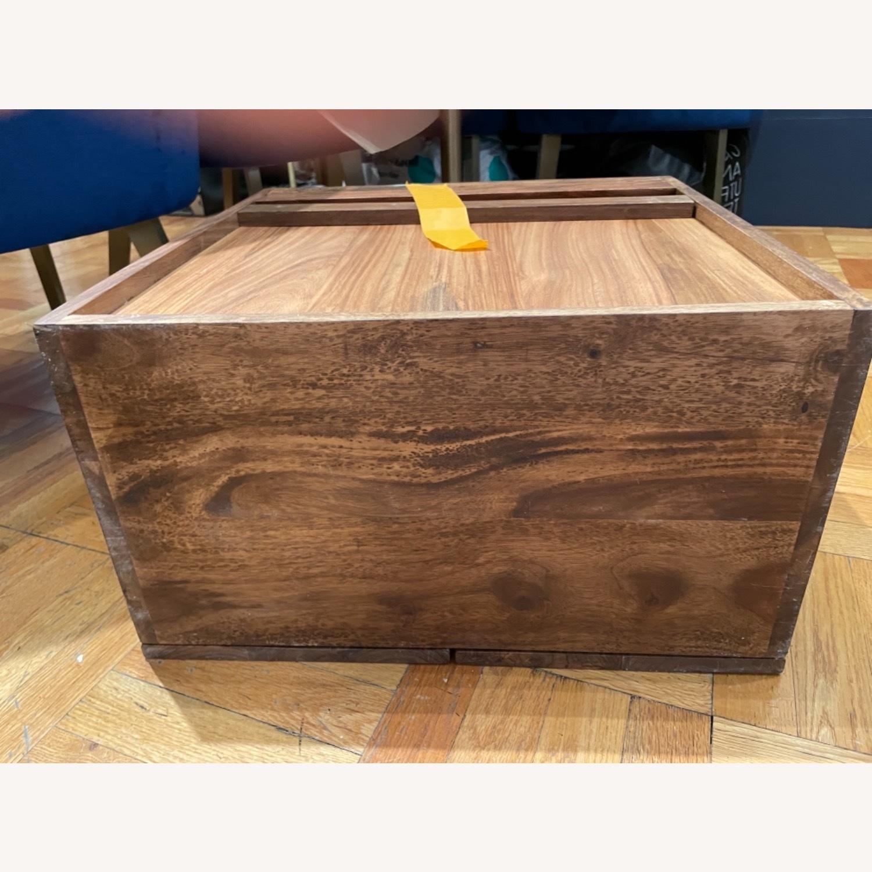 CB2 Walnut Bar Cabinet - image-3