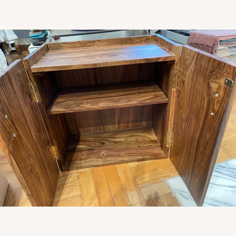 CB2 Walnut Bar Cabinet - image-1