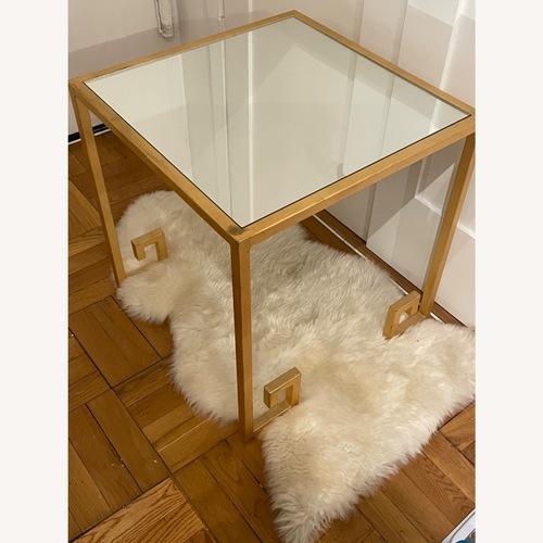 Used Wayfair Mercer 41 Mirrored Glass Table for sale on AptDeco