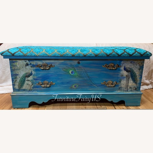 Used Lane Furniture Peacock Cedar Chest with Bench for sale on AptDeco